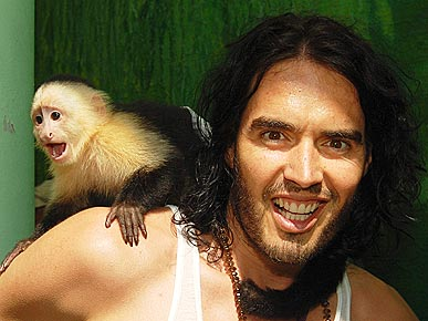 Russell Brand Goes Wild – with a Monkey!