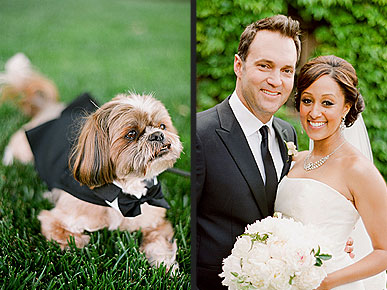 The Water Bowl: Tamera Mowry Had a Doggie Ring Bearer!