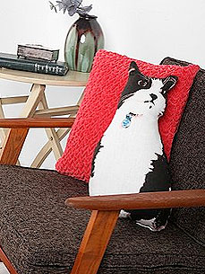 Feel Free to Sit on Diego the Cat (Pillow) - Pet Style, Under $50