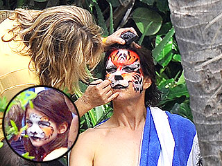 PHOTO: Tom Cruise and Suri Go Wild (as Tigers)! | Tom Cruise