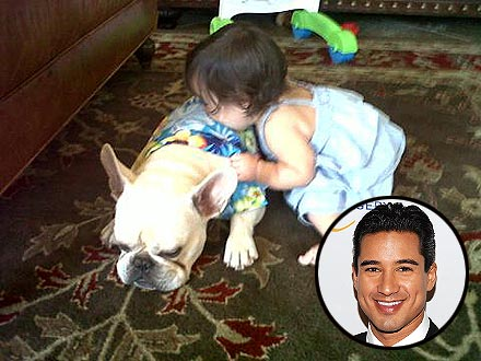 Cuddle Alert! Mario Lopez's Daughter Kisses Dog Julio