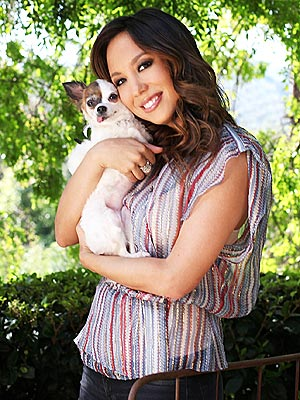 Cheryl Burke's Dog Gets a French Twist – with Evan Lysacek's Help