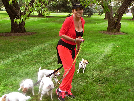 Mariah Carey Workout with Her Dogs: Photo