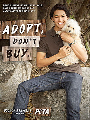 Twilight Actor Booboo Stewart Stars in PETA Ad