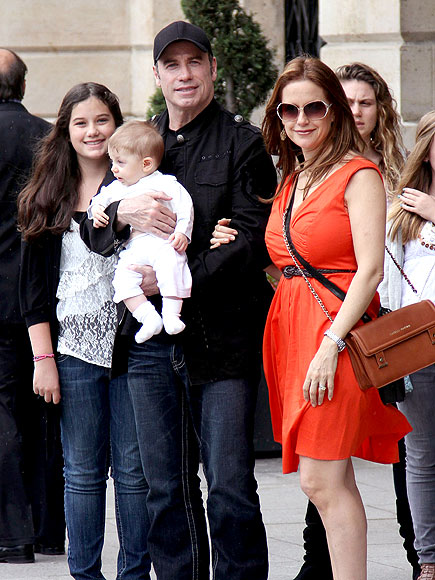 John Travolta Visits the Eiffel Tower on Father&#39;s Day
