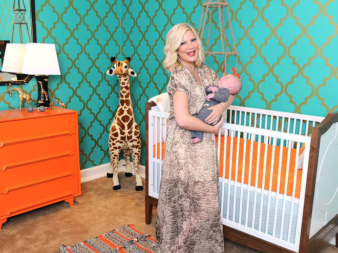 Tori Spelling's Safari-Themed Nursery