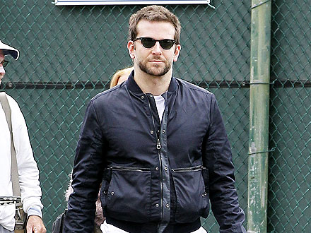 Bradley Cooper Works on His Abs (and Conversational Skills) at the Gym