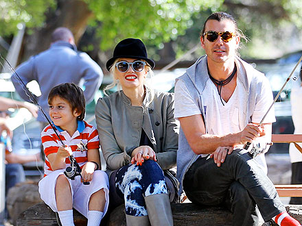 Gwen & Gavin Snuggle as Their Sons Hit the Playground