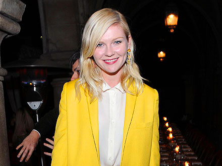 Kirsten Dunst Enjoys a Martini at the Chateau Marmont