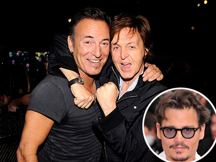 Johnny Depp Rocks Out with Paul McCartney and Bruce Springsteen | Bruce Springsteen, Paul McCartney
