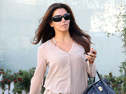 Eva Longoria Shares Girl Talk (and Pasta!) for Lunch