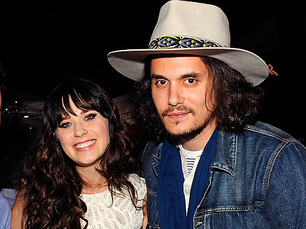 John Mayer, Zooey Deschanel Hold Court at Chateau Marmont