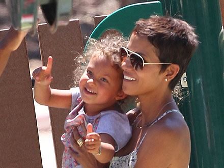 Halle Berry Takes Nahla to the Amusement Park