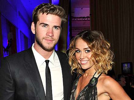 Miley Cyrus & Liam Hemsworth's Color-Coordinated Date Night