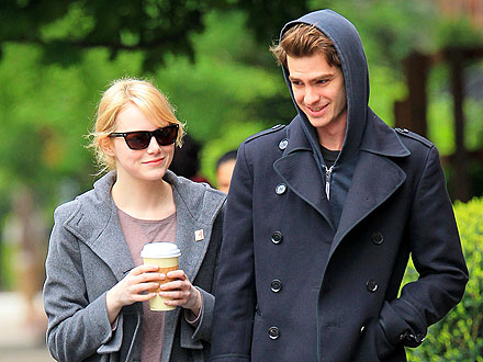 Andrew Garfield Gets Some Lip Service from Emma Stone