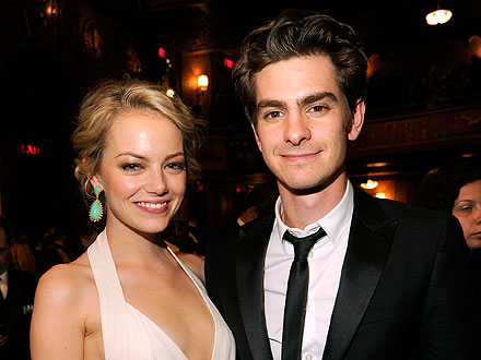 Emma Stone & Andrew Garfield's Lovey-Dovey Group Date | Andrew Garfield, Emma Stone