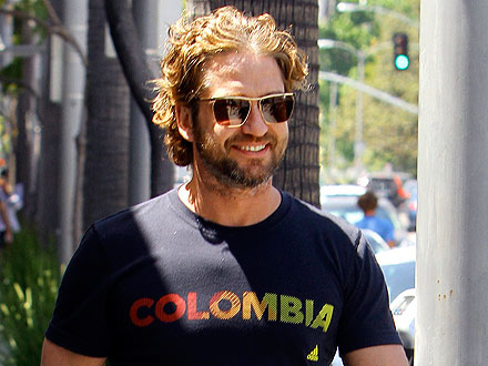 Gerard Butler Chows Down On a (Really Huge) Mexican Food Feast