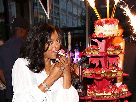 Taraji P. Henson Indulges Her Sweet Tooth in N.Y.C.