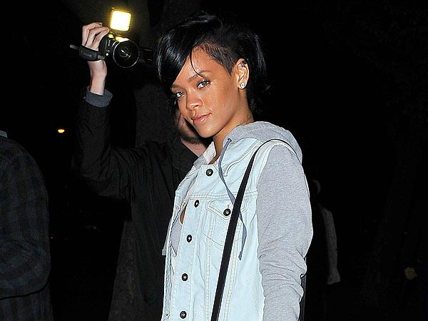 Rihanna Wines and Dines in Beverly Hills