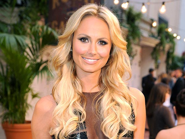 Stacy Keibler Trades Fashion for Football in N.Y.C.