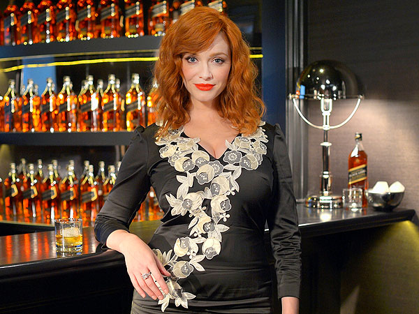 Christina Hendricks Tastes Whiskey and Talks Mad Men
