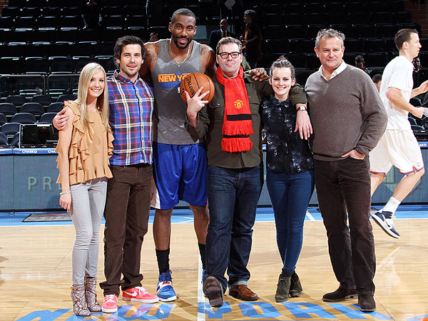 Downton Abbey Stars Hang with the New York Knicks