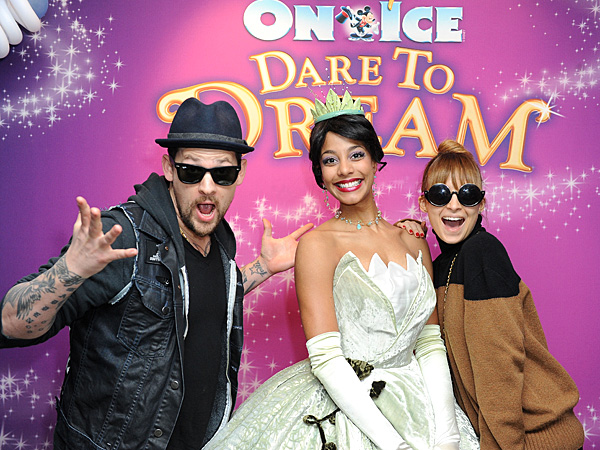 Nicole Richie and Joel Madden Meet Their Favorite Disney Princesses | Joel Madden, Nicole Richie