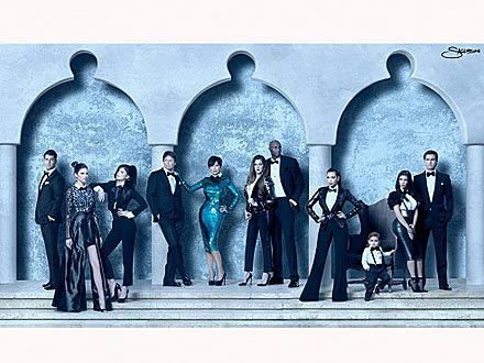 Kim Kardashian and Family Christmas Card Photo