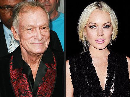 Hugh Hefner Had 'Mixed Emotions' About Lindsay Lohan Doing Playboy