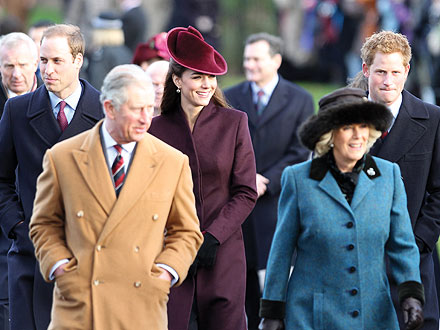 Prince William & Kate Greet Well-Wishers on Walk from Church