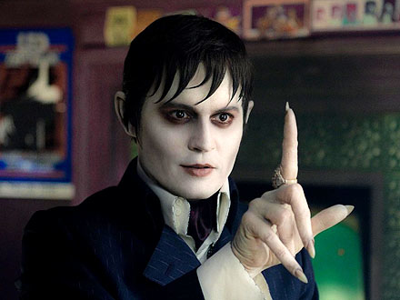 Johnny Depp as a Vampire in Dark Shadows