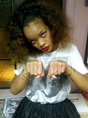 Rihanna Thug Life Tattoo: Pictures