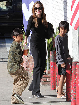 Angelina Jolie Legoland Visit with Kids