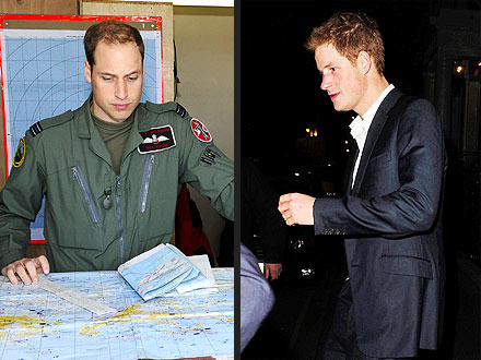 Prince William Serves While Prince Harry Parties