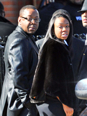 Bobby Brown Leaves Funeral: Speaks Out About Why