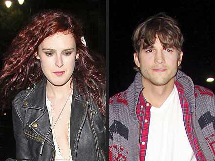 Ashton Kutcher Cheers at Rumer Willis's Concert