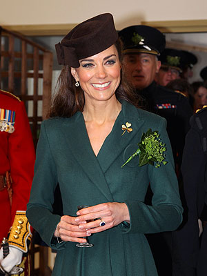 St. Patrick's Day: Kate Hands Out Shamrocks to Irish Guards