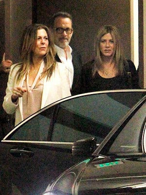 Jennifer Aniston & Justin Theroux's Double Date with Tom Hanks & Rita Wilson | Jennifer Aniston, Rita Wilson, Tom Hanks