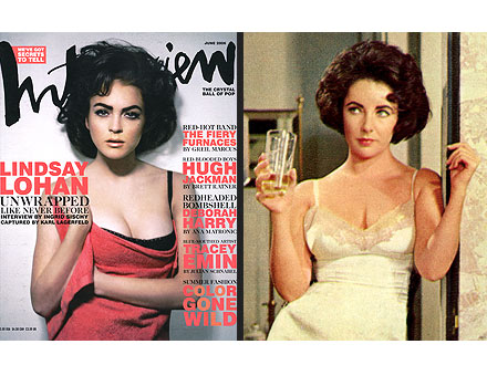 Lindsay Lohan in Elizabeth Taylor Biopic; See Old Picture of Her