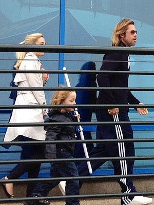 Brad Pitt, Angelina Jolie, Kids in Legoland