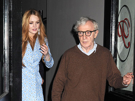 Lindsay Lohan and Woody Allen Step Out for Dinner in New York City