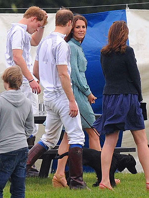 Kate Middleton Brings Dog Lupo to Polo Match