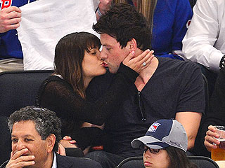 Lea Michele & Cory Monteith Smooch at Hockey Game | Cory Monteith, Lea Michele