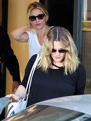 Drew Barrymore Wedding - The Star Is Spotted at Chanel with Cameron Diaz