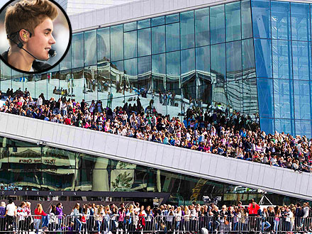 Justin Bieber Almost Causes a Riot in Norway