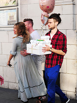 Sienna Miller Leaves Her Baby Shower in London