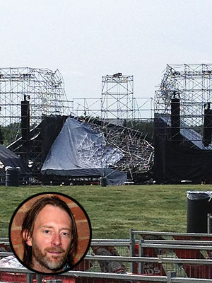 Radiohead Stage Collapse Kills One Person According to Reports