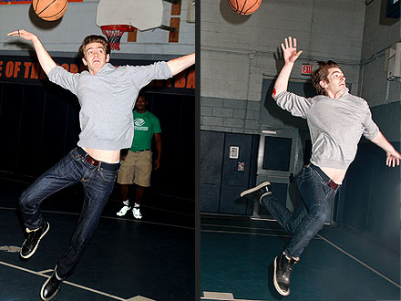 Andrew Garfield, Spider-Man Star, Shoots Hoops