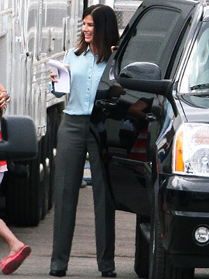 Sandra Bullock Pictures from New Movie Set of The Heat
