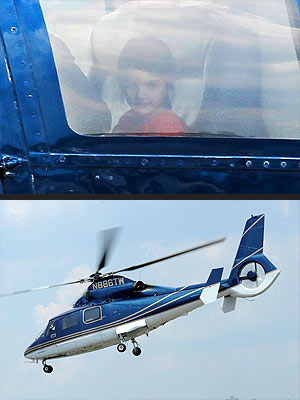 Tom Cruise & Suri Take a Helicopter Ride
